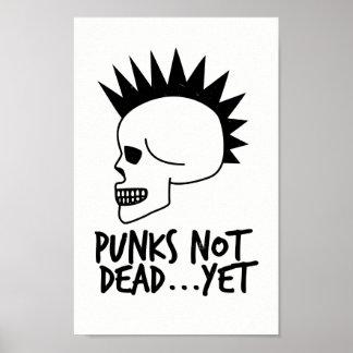 Póster Punks no absolutamente… con todo blanco del cráneo