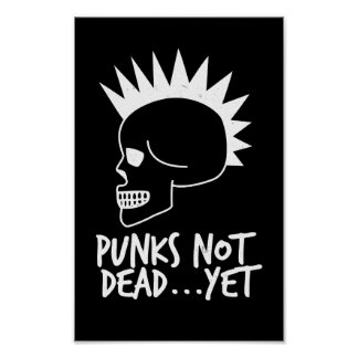 Póster Punks no absolutamente… con todo oscuridad del