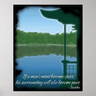 Poster puro de la cita de Buda