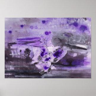 Póster Purple ink illustration - Turkey