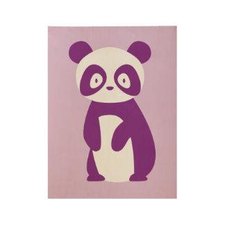 Poster púrpura de la panda