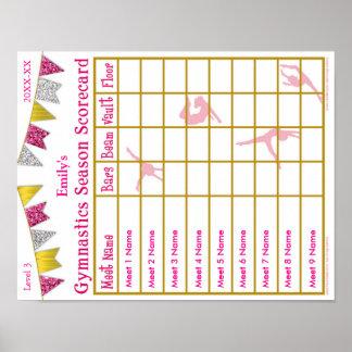 Póster Purpurina del poster 9 de la tarjeta de puntuación
