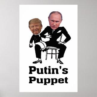 Póster Putin y marioneta