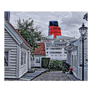 Póster QE2 en Stavanger
