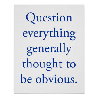 Póster Question everything
