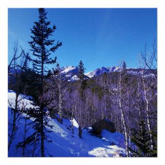 Póster Raqueta de la montaña rocosa