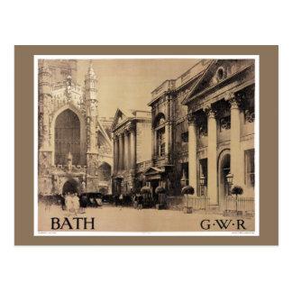 Poster raro del viaje del vintage del baño postal