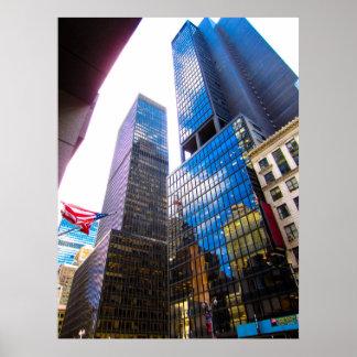 Póster Rascacielos NYC