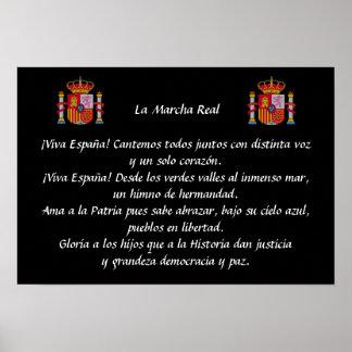 Poster real de Marcha del La (himno nacional Póster