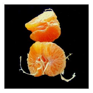 Póster Rebanadas anaranjadas en arte negro de la serie