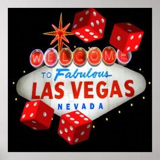 Póster Recepción a Las Vegas + Gráfico de vector de los d