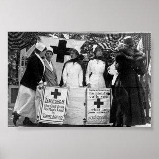 Póster Reclutamiento de las enfermeras