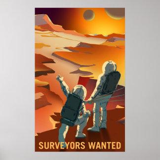 Póster Reclutamiento de Marte - los topógrafos quisieron