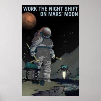 Póster Reclutamiento de Marte - poster del turno de noche