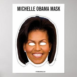 Póster Recorte de la máscara de Michelle Obama