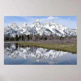 Póster Reflexiones de las montañas (Tetons magnífico)
