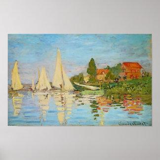 Póster Regatta en Argenteuil de Claude Monet