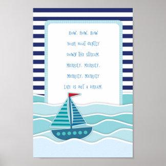 Póster Reme su poster del barco