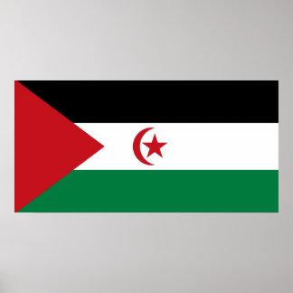 Póster República Democratic árabe de Sahrawi