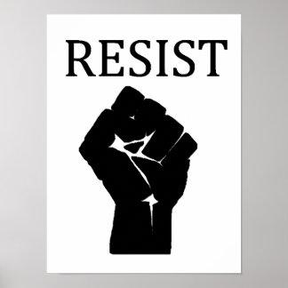 Póster RESISTA el poster anti de Donald Trump del puño