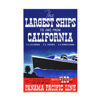 Poster restaurado California del vintage de los Lienzo