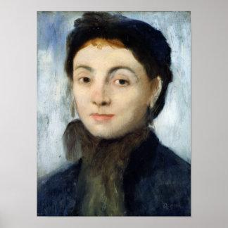 Póster Retrato de Edgar Degas el   de Josephine Gaujelin,