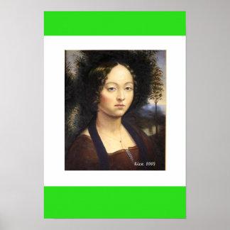 Póster Retrato de Ginevra Benci, p 1476… - Modificado