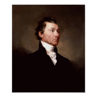 Póster Retrato de presidente James Monroe
