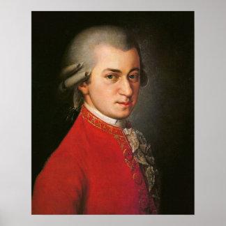 Póster Retrato de Wolfgang Amadeus Mozart