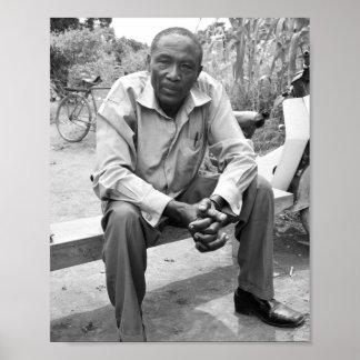 Póster Retrato del presidente del pueblo del Ugandan