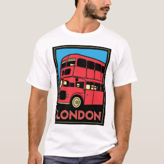 poster retro del art déco de Londres Westminster Camiseta