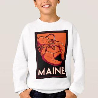 Poster retro del viaje del art déco de Maine Camisetas