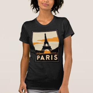 poster retro del viaje del art déco de París Camiseta
