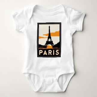 poster retro del viaje del art déco de París Camisetas