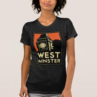 poster retro del viaje del art déco de Westminster Camiseta