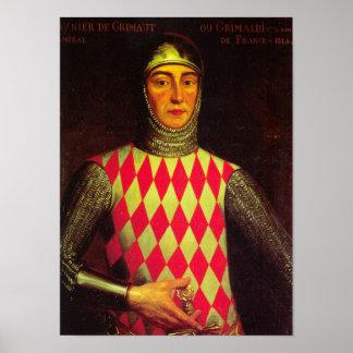 Póster Rey icónico Raniero I de Mónaco