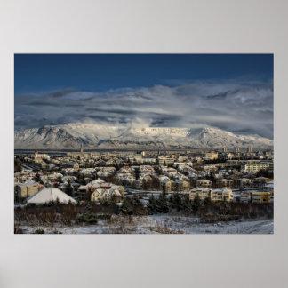 Póster Reykjavik en Winterdress