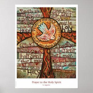 Póster Rezo al poster de la sala de clase del Espíritu
