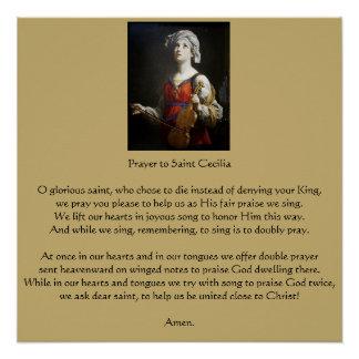 Póster Rezo al santo Cecilia