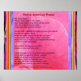 Póster Rezo del nativo americano