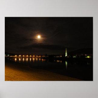 Póster Río de Chemung en la noche