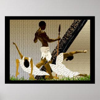 Póster Ritual de acoplamiento africano