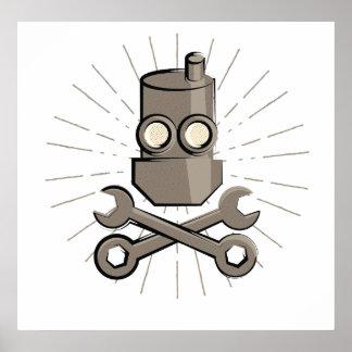Póster Robot del pirata - Rogelio alegre - variante 01