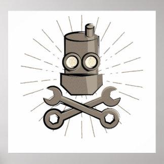 Póster Robot del pirata - Rogelio alegre - variante 02