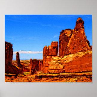 Póster Rocas del parque nacional de los arcos