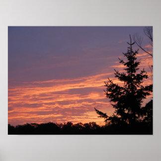 Poster rosáceo hermoso del valor de los cielos del