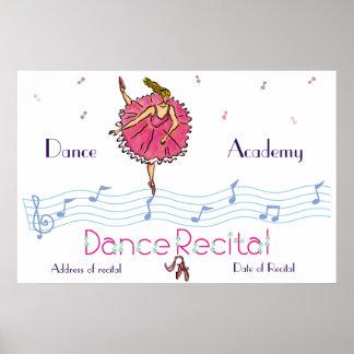 Poster rosado del decreto de la danza de la