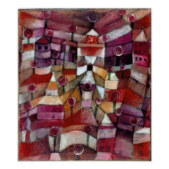 Póster Rosaleda de Paul Klee