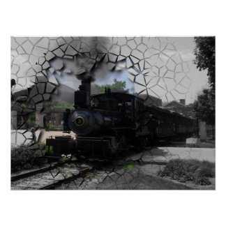 Póster Rotura en el tren directo
