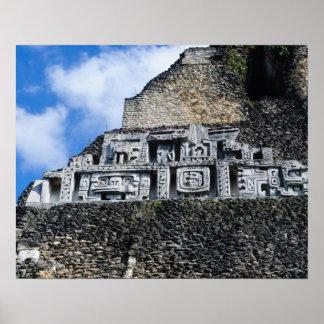 Póster Ruina maya de Xunantunich en Belice
